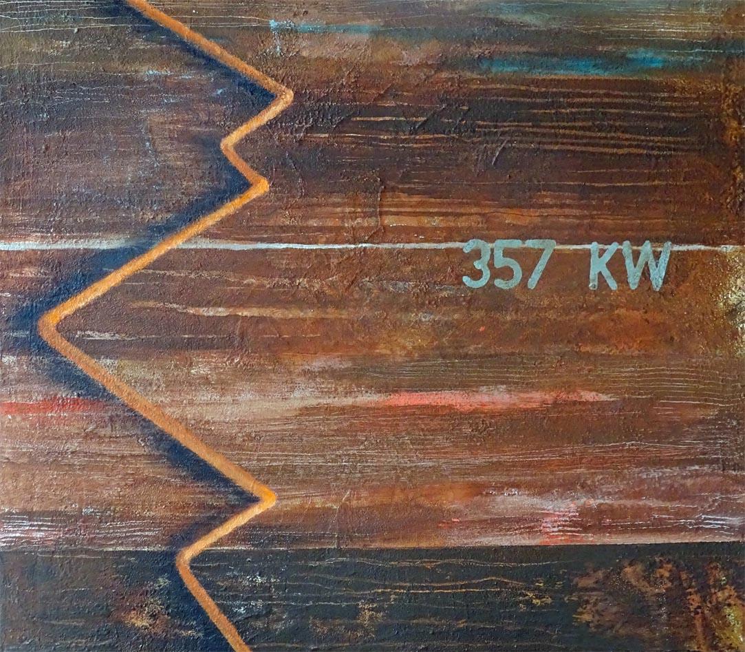 6 Jahre 45 Wochen / Acryl auf Leinwand - 70 x 80 cm - 2016