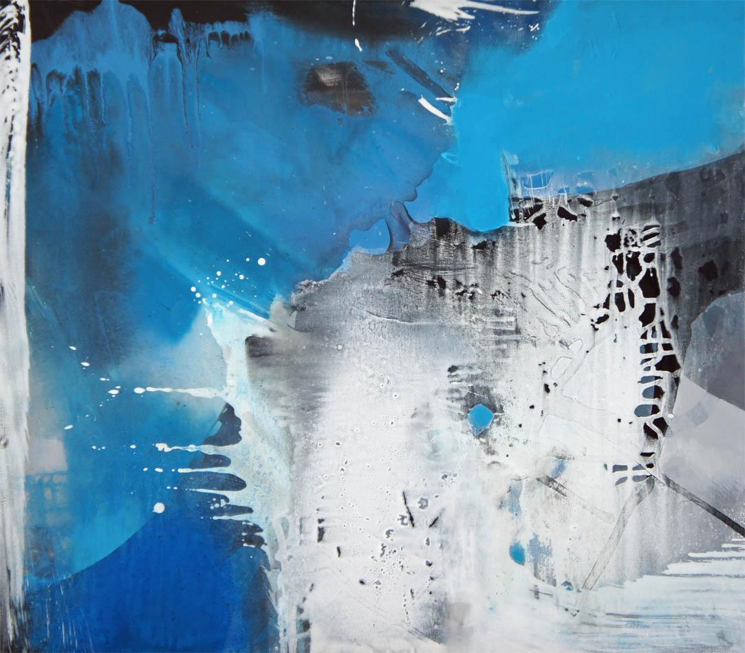 Als der Himmel blau wurde / Acryl auf Leinwand - 70 x 80 cm - 2013