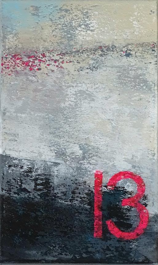 Am 13. wird geradelt I / Acryl auf Leinwand - 50 x 30 cm - 2018