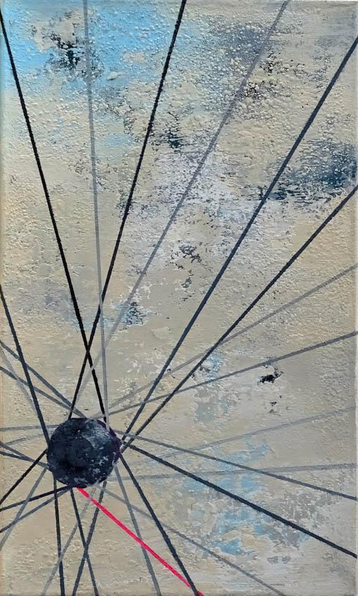 Am 13. wird geradelt II/ Acryl auf Leinwand - 50 x 30 cm - 2018