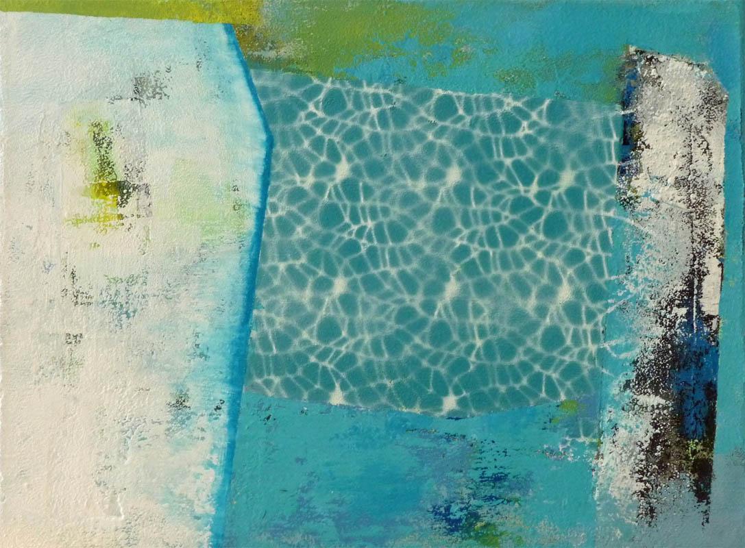 Auch das Meer besteht aus Tropfen / Mischtechnik auf Leinwand - 30 x 40 cm - 2014