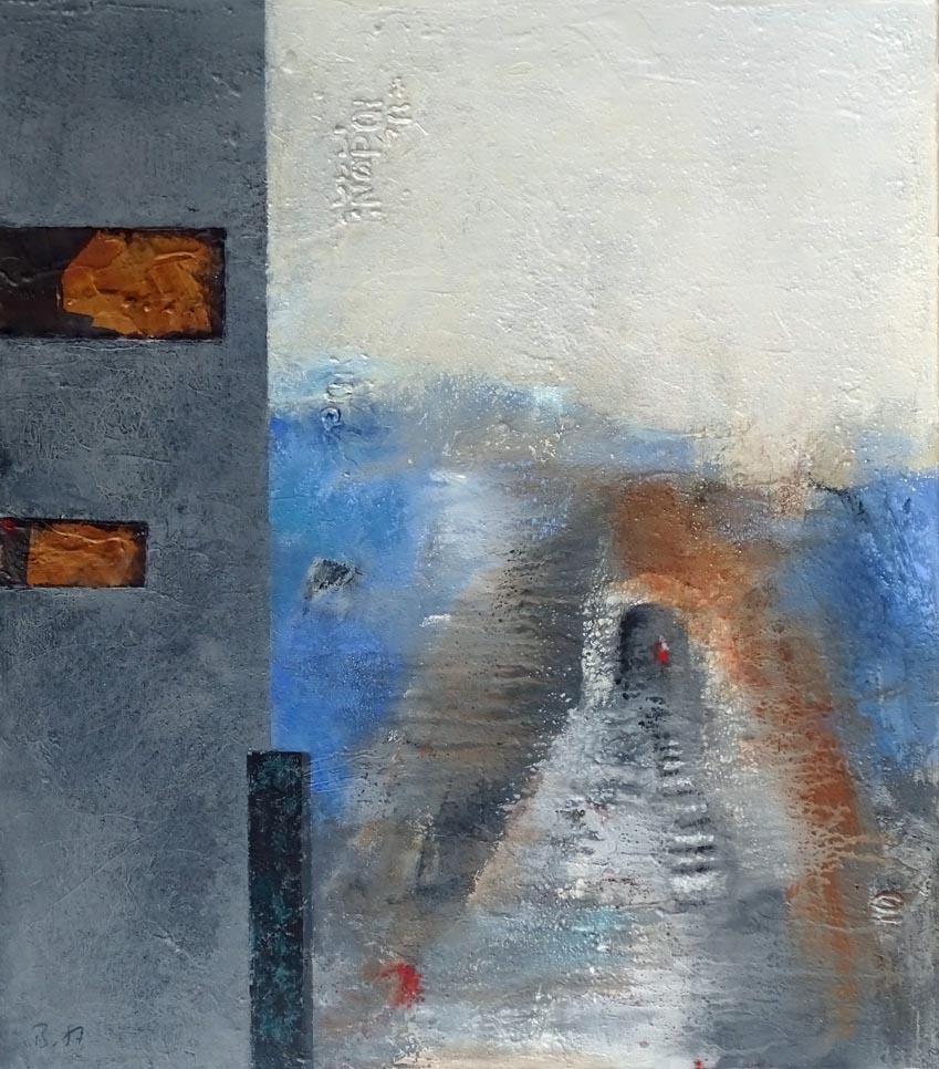 Blickwinkel / Acryl auf Leinwand - 80 x 70 cm - 2019