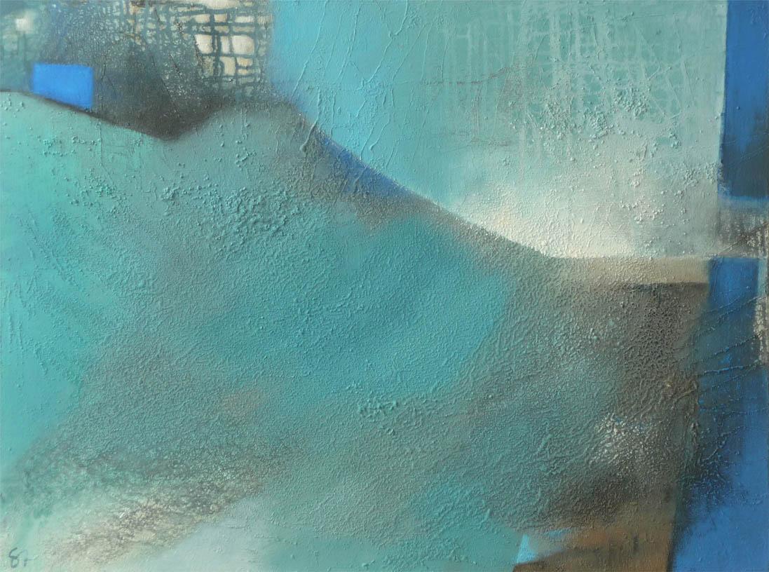 Blue dynamic / Mischtechnik auf Leinwand - 60 x 80 cm - 2012