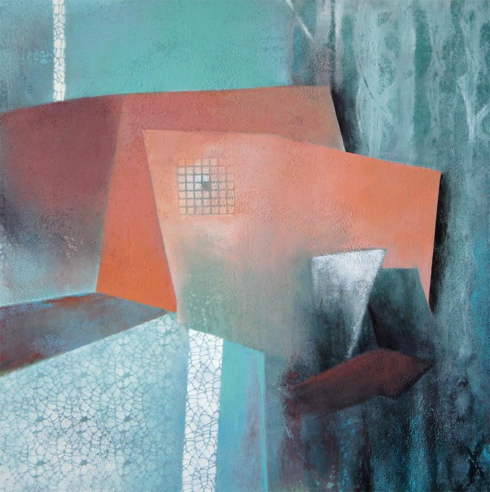 Das Spiel mit der Geometrie / Acryl auf Leinwand - 70 x 70 cm - 2013