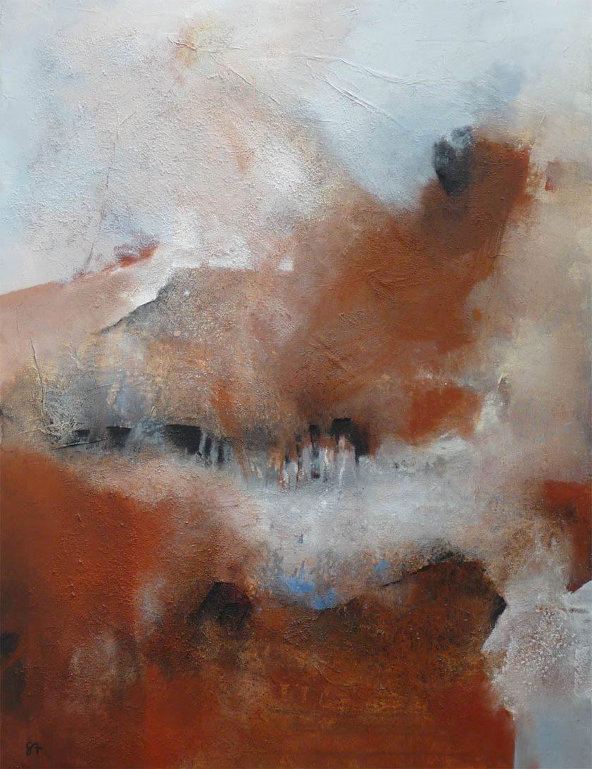 Dialog der Kräfte / Acryl auf Leinwand - 120 x 100 cm - 2009