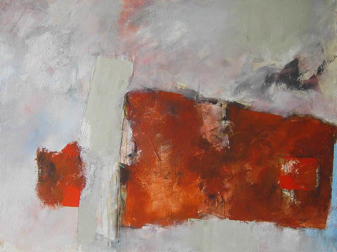 Die Farbe hat mich ... / Acryl auf Leinwand - 90 x 110 cm - 2006