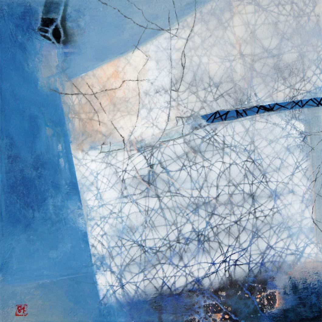 Die Kälte zeichnet ein Muster / Acryl auf Leinwand - 60 x 60 cm - 2016