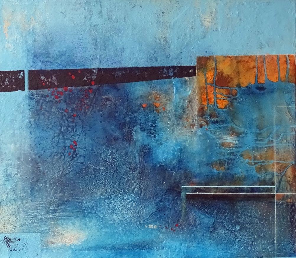 Form gegen Farbe / Acryl auf Leinwand - 70 x 80 cm- 2020