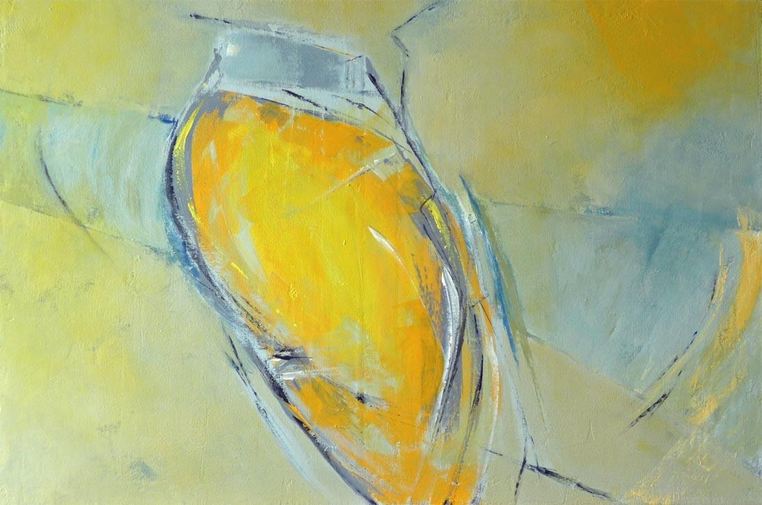 Gut gebalzt ist halb gewonnen / Mischtechnik auf Leinwand - 60 x 90 cm - 2011