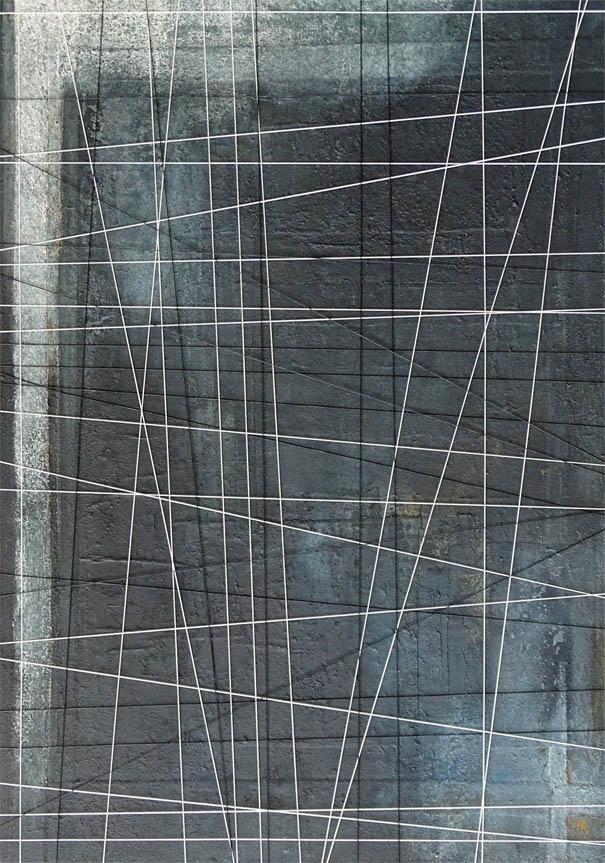 Verbandelt / Mischtechnik auf Leinwand - 100 x 80 cm - 2015