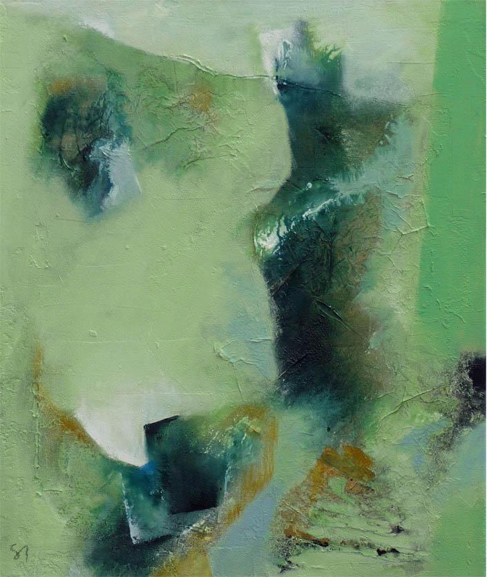 Nicht immer nur Rot / Acryl auf Leinwand - 50 x 60 cm - 2009