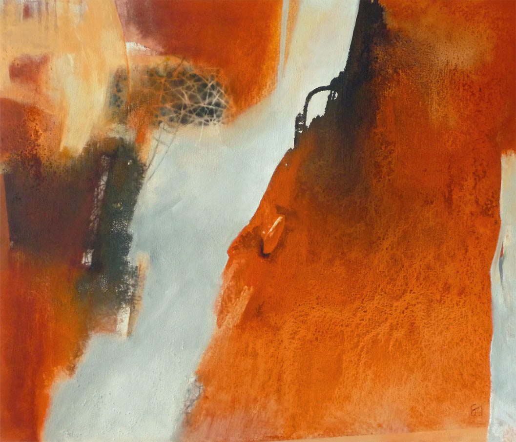 Orange - die Farbe der Energie / Mischtechnik auf Leinwand - 120 x 140 cm - 2013