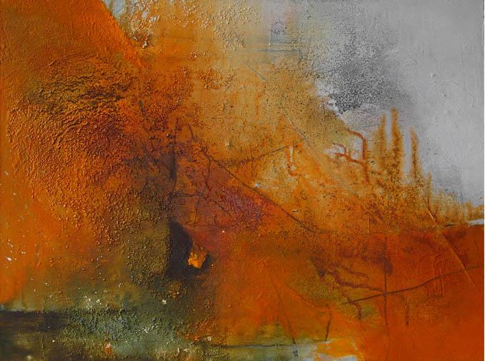 Orange - die Farbe der Wärme / Acryl auf Leinwand - 70 x 80 cm - 2010