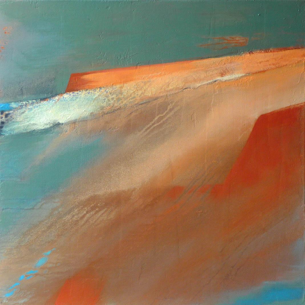 Panta rhei-alles fließt / Acryl auf Leinwand - 70 x 70 cm - 2012
