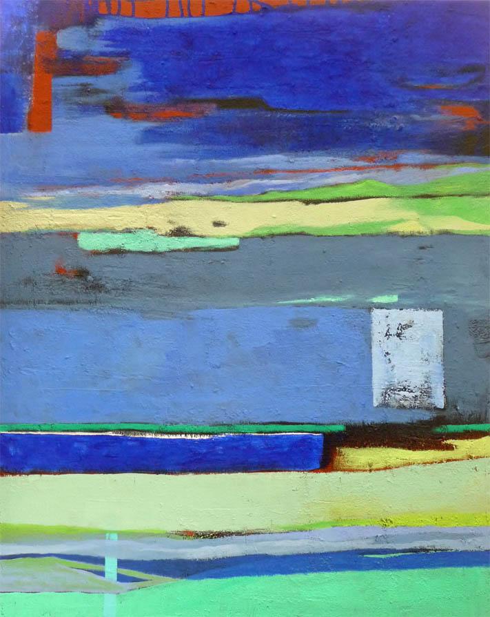 Suche nach dem Blau an dem mein Herz hängt / Mischtechnik auf Leinwand - 80 x 100 cm - 2011
