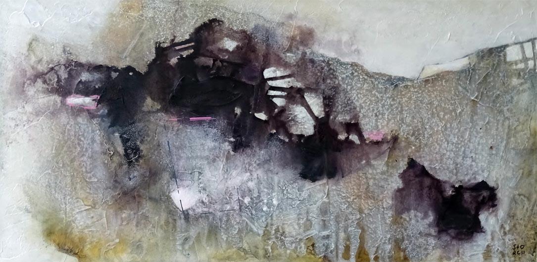 Wegbeschreibung / Acryl auf Leinwand - 50 x 100 cm - 2018