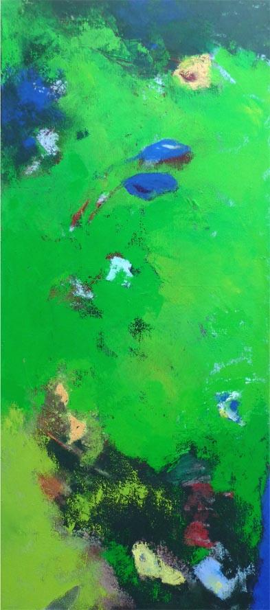 Wundergarten / Acryl auf Leinwand - 45 x 100 cm - 2011
