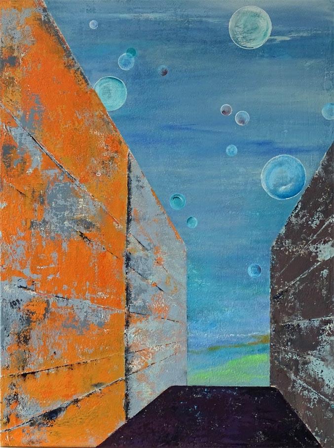 Wenn der Traum wahr wird / Acryl auf Leinwand - 80 x 60 cm - 2017
